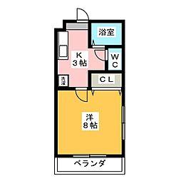 メゾン鹿谷III[1階]の間取り