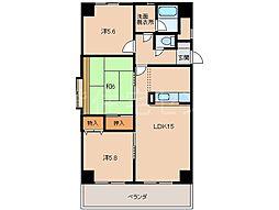 和泉ガーデンパレス[2階]の間取り