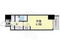 Osaka Metro御堂筋線 本町駅 徒歩3分の賃貸マンション 7階1Kの間取り