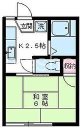 519−ワカサコーポ[203号室]の間取り