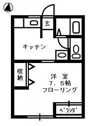 メゾンリバージュ[1階]の間取り