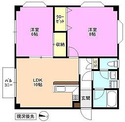長野県松本市大字島内の賃貸マンションの間取り