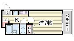 ヴェルディ神戸[6階]の間取り
