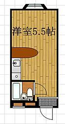ベルピア藤沢[203号室]の間取り