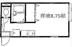 神奈川県川崎市多摩区栗谷3の賃貸アパートの間取り