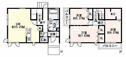 [テラスハウス] 兵庫県神戸市垂水区向陽3丁目 の賃貸【兵庫県 / 神戸市垂水区】の間取り