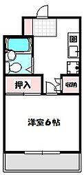 Osaka Metro谷町線 大日駅 徒歩7分の賃貸マンション 3階1Kの間取り