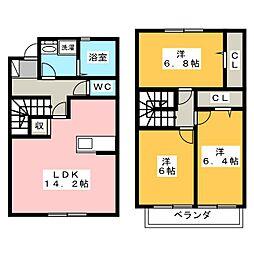[テラスハウス] 静岡県浜松市中区西浅田2丁目 の賃貸【/】の間取り