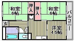 ハイツニシカワ[203号室]の間取り