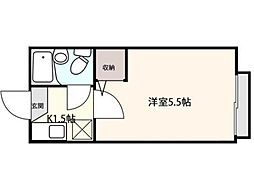 セシール武蔵野[2階]の間取り