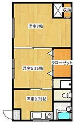 富士コーポ[102号室号室]の間取り