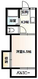 桜コーポA[208号室]の間取り