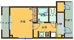 広島県呉市広徳丸町の賃貸マンションの間取り