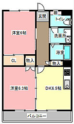 静岡県浜松市東区西ケ崎町の賃貸マンションの間取り