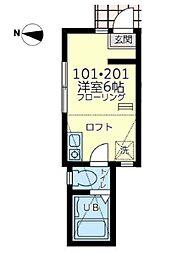 ユナイト川崎ネイリーザックス[1階]の間取り