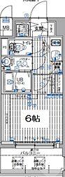 エスリード大阪梅田リュクス 8階1Kの間取り