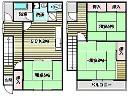 [一戸建] 大阪府大阪狭山市西山台6丁目 の賃貸【/】の間取り