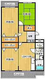 ポンパプラザ2[1階]の間取り