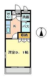 レジデンス弐番館[202号室]の間取り