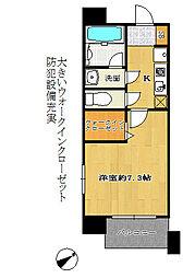 アーデンタワー神戸元町[5階]の間取り