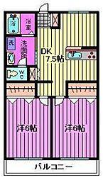 第二須賀ハイツ[106号室]の間取り