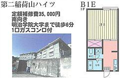 第二稲荷山ハイツ[B1E号室]の間取り