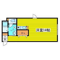 北海道札幌市東区北十五条東15丁目の賃貸マンションの間取り