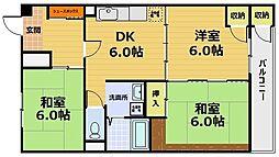 山科音羽マンションA棟[4階]の間取り