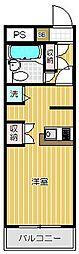 ワコーレ五反田[3階]の間取り