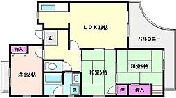 兵庫県神戸市東灘区森北町7丁目の賃貸マンションの間取り