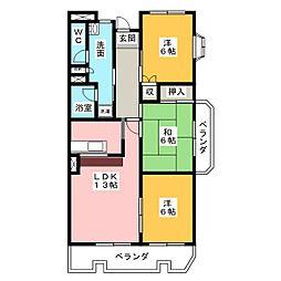 メゾン・ド・グランドゥールII[1階]の間取り