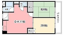 マンション川東[3F号室]の間取り