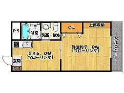 ペシェ百道[3階]の間取り