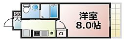 Osaka Metro中央線 緑橋駅 徒歩7分の賃貸マンション 4階1Kの間取り
