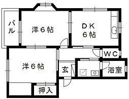 サンコート三方原II[2階]の間取り