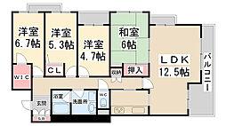 メゾン花屋敷東[3階]の間取り