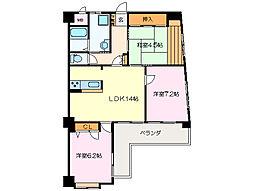 丸美ロイヤル松阪[5階]の間取り