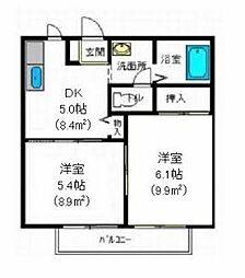 メゾンヒロB[1階]の間取り