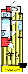 GRAND-AILES駒込 3階ワンルームの間取り