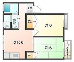 K・リトルタウン[2階]の間取り