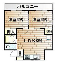 福岡県北九州市門司区別院の賃貸マンションの間取り