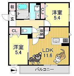 シャーメゾンMAKI[3階]の間取り