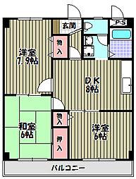 グリーンパークサコンIII[2階]の間取り