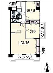 リーブル藤ケ丘[4階]の間取り