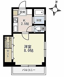 埼玉県蕨市中央2丁目の賃貸マンションの間取り
