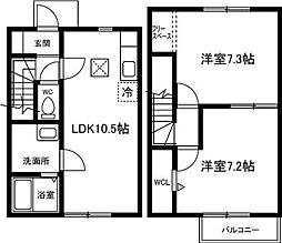 [タウンハウス] 愛知県西尾市寄住町泡原 の賃貸【愛知県 / 西尾市】の間取り