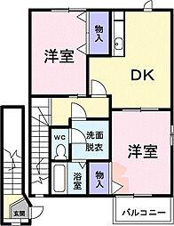 ニュ−シティ谷郷II[2階]の間取り