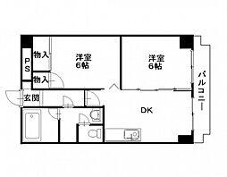 第2パークサイドマンション[5階]の間取り