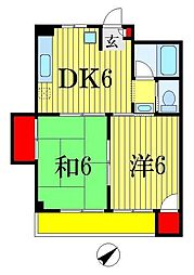 コーポ橋本[3階]の間取り