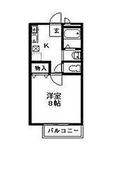 神奈川県横浜市南区弘明寺町の賃貸アパートの間取り